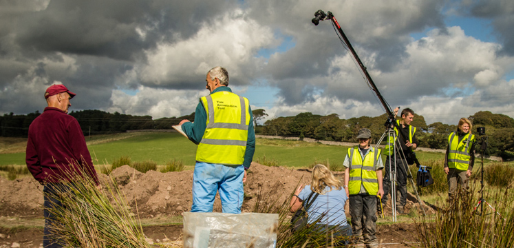 Filming Romans in Ravenglass copyright James Robinson